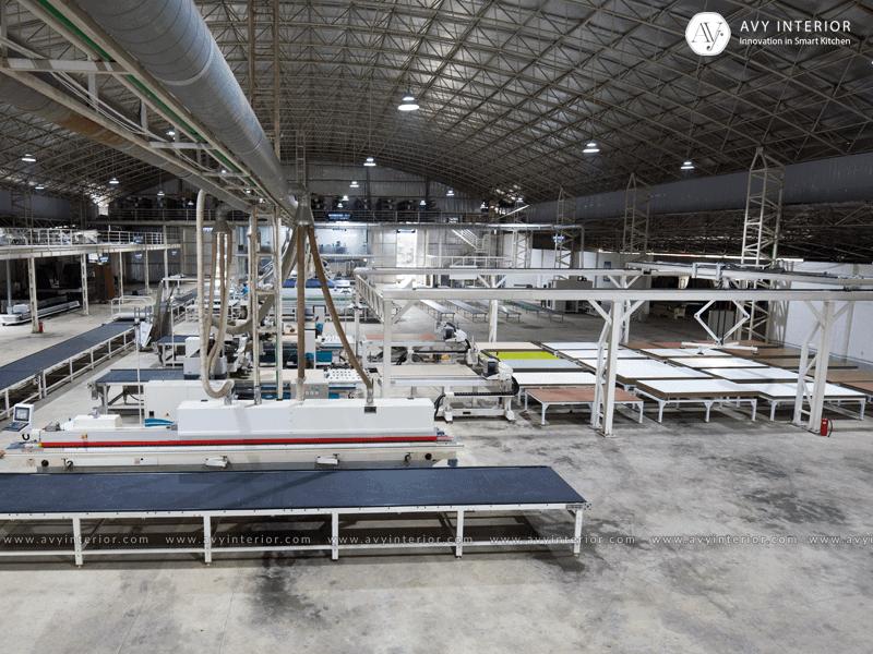 Nhà máy sản xuất nội thất thông minh hiện đại của Avy Interier