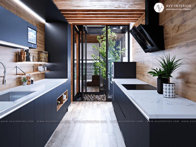 Tủ bếp thông minh song song thương hiệu Avy Interior